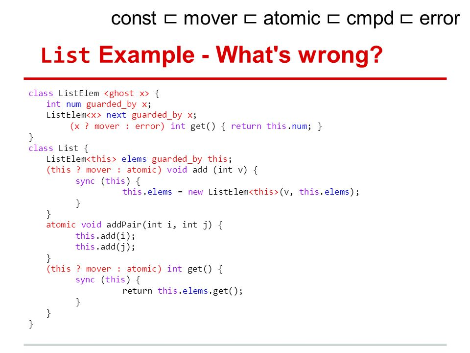 List Example - What s wrong.