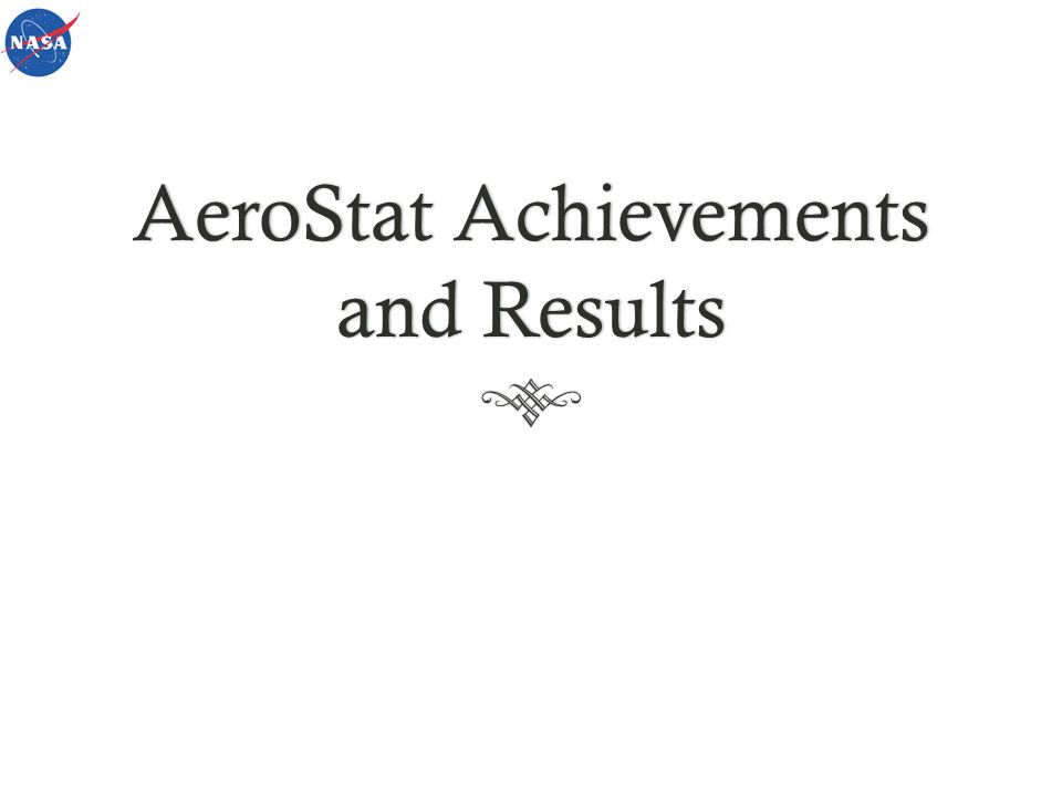 AeroStat Achievements and Results