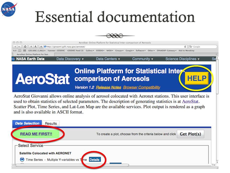 Essential documentationEssential documentation