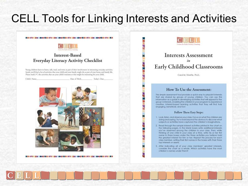CELL Tools for Linking Interests and Activities