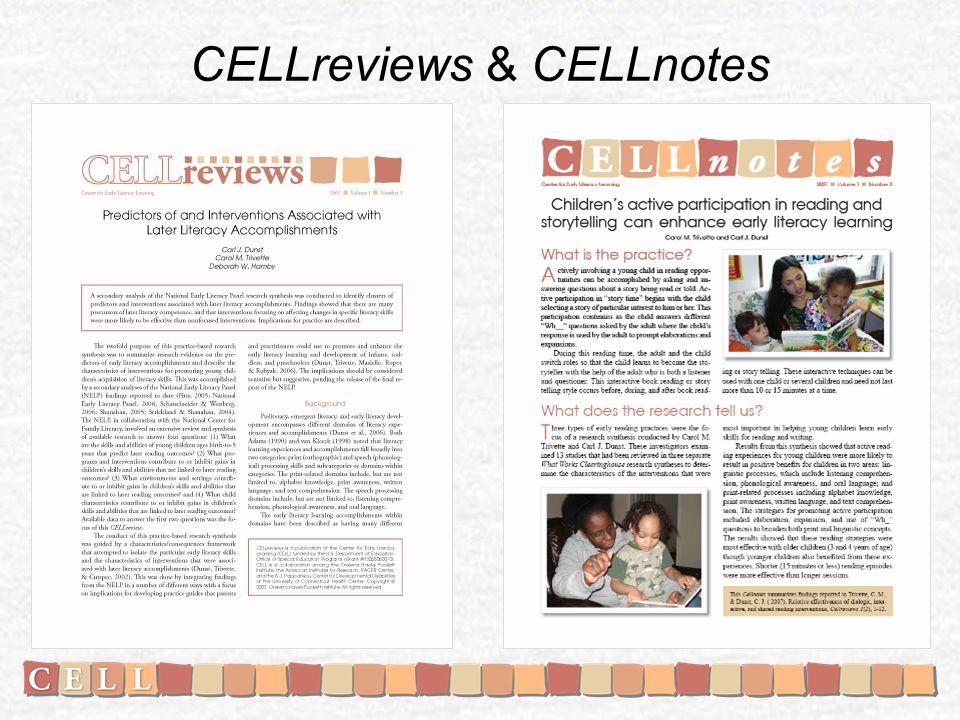 CELLreviews & CELLnotes
