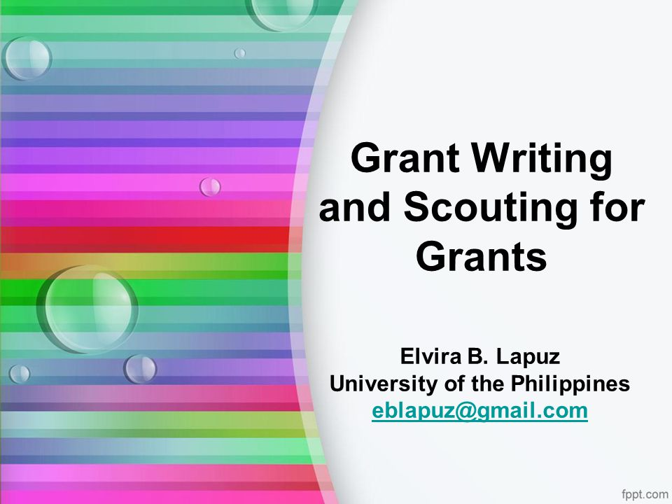 Who can benefit from grants.