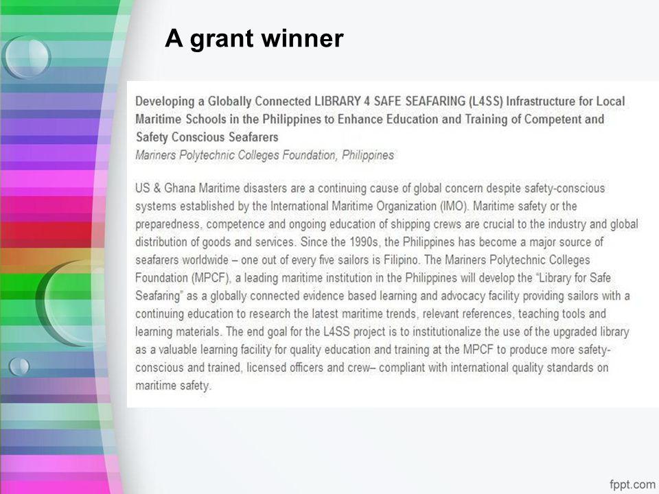 A grant winner