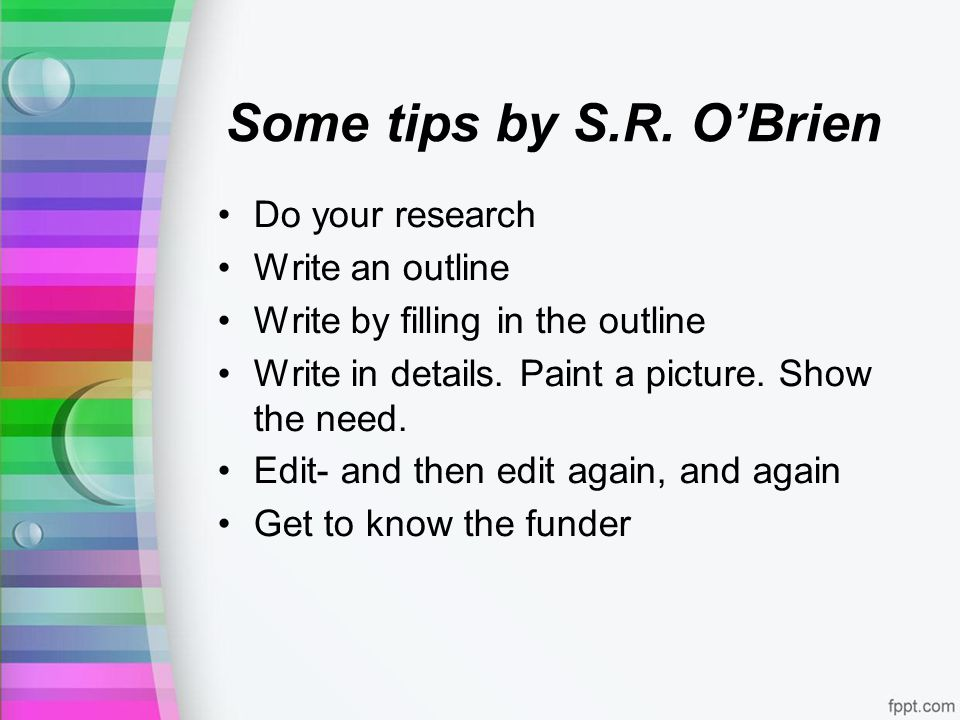 Some tips by S.R.