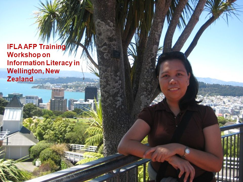 IFLA AFP Training Workshop on Information Literacy in Wellington, New Zealand