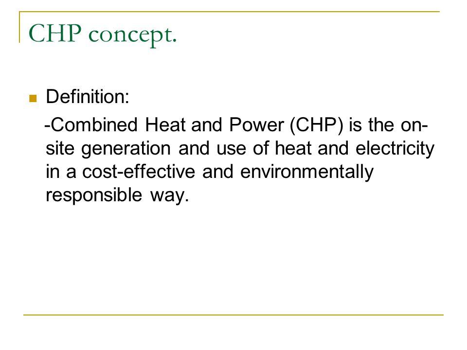 CHP technological options: -Gas turbine based scheme.