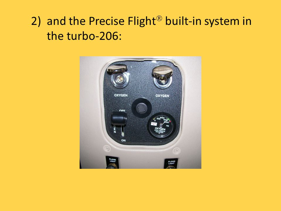 2)and the Precise Flight built-in system in the turbo-206: