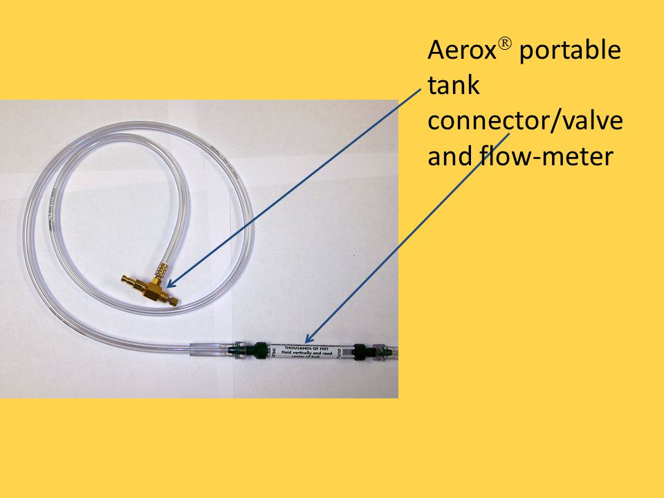 Aerox portable tank connector/valve and flow-meter