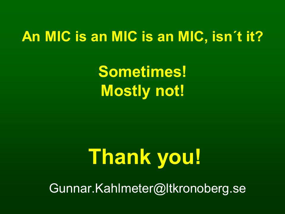 Thank you. Gunnar.Kahlmeter@ltkronoberg.se An MIC is an MIC is an MIC, isn´t it.