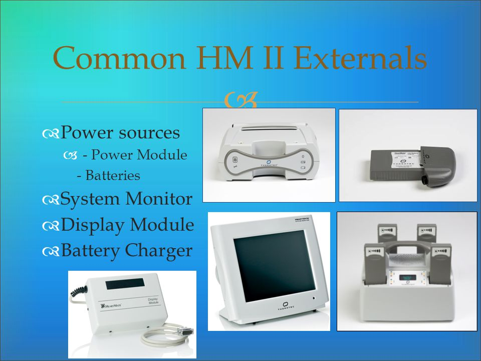 Power sources - Power Module - Batteries System Monitor Display Module Battery Charger Common HM II Externals