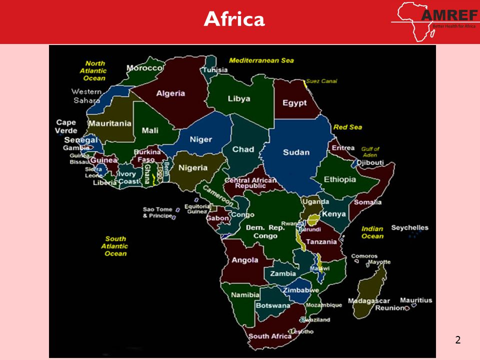 Africa in Perspective The African continent is huge.