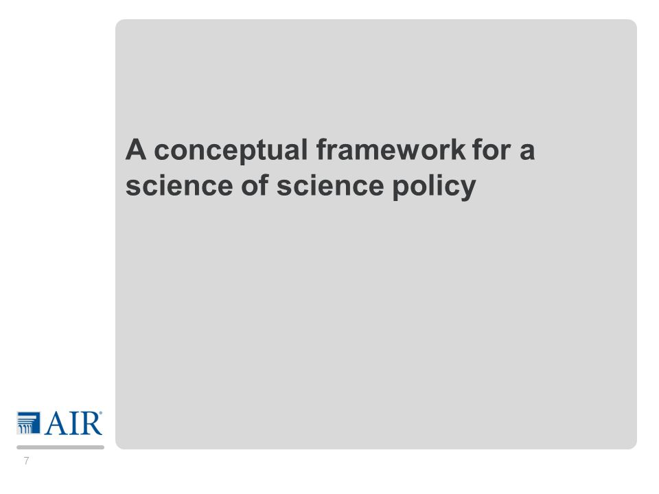 18 Outline Science of science policy A proposed conceptual framework Empirical approaches: NSF Engineering Dashboard ASTRA – Australia HELIOS – France Final thoughts