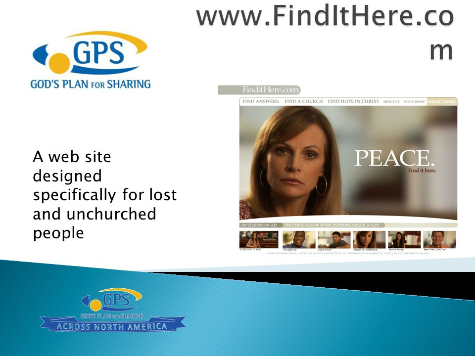 A web site designed specifically for lost and unchurched people