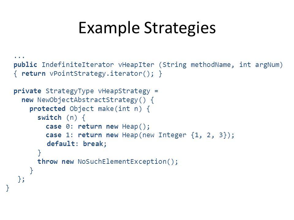 Example Strategies...