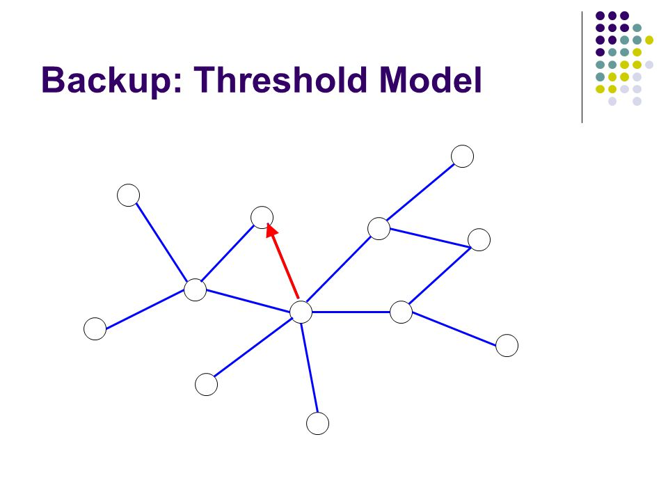 Backup: Threshold Model