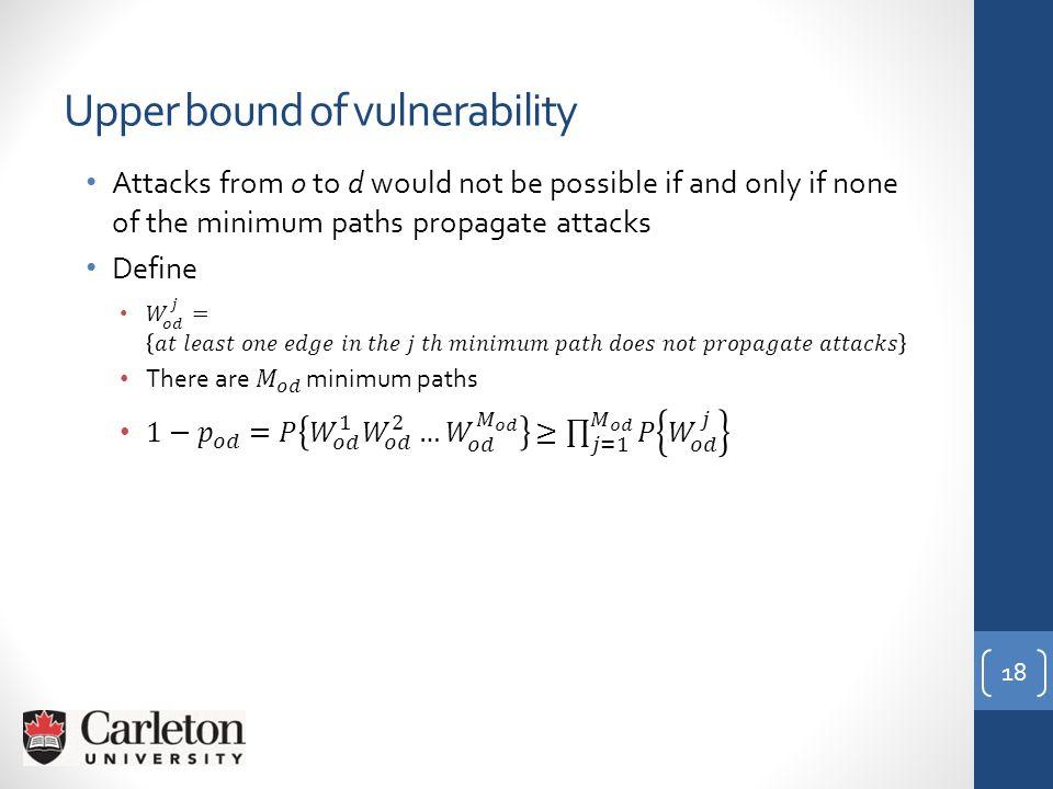 18 Upper bound of vulnerability