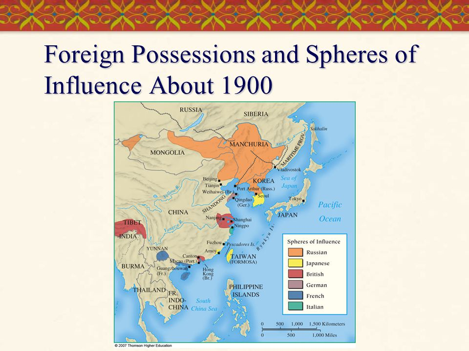 Foreign Possessions and Spheres of Influence About 1900