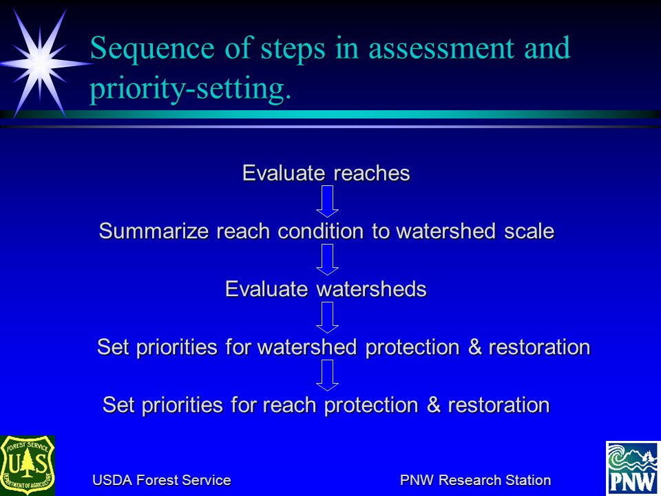 USDA Forest Service PNW Research Station USDA Forest Service PNW Research Station Chewaucan basin: a multi-scale example Prototyping watershed assessment for the evaluation monitoring program of the NWFP Aquatic Conservation Strategy: dealing with multiple scales and making the process more consistent.