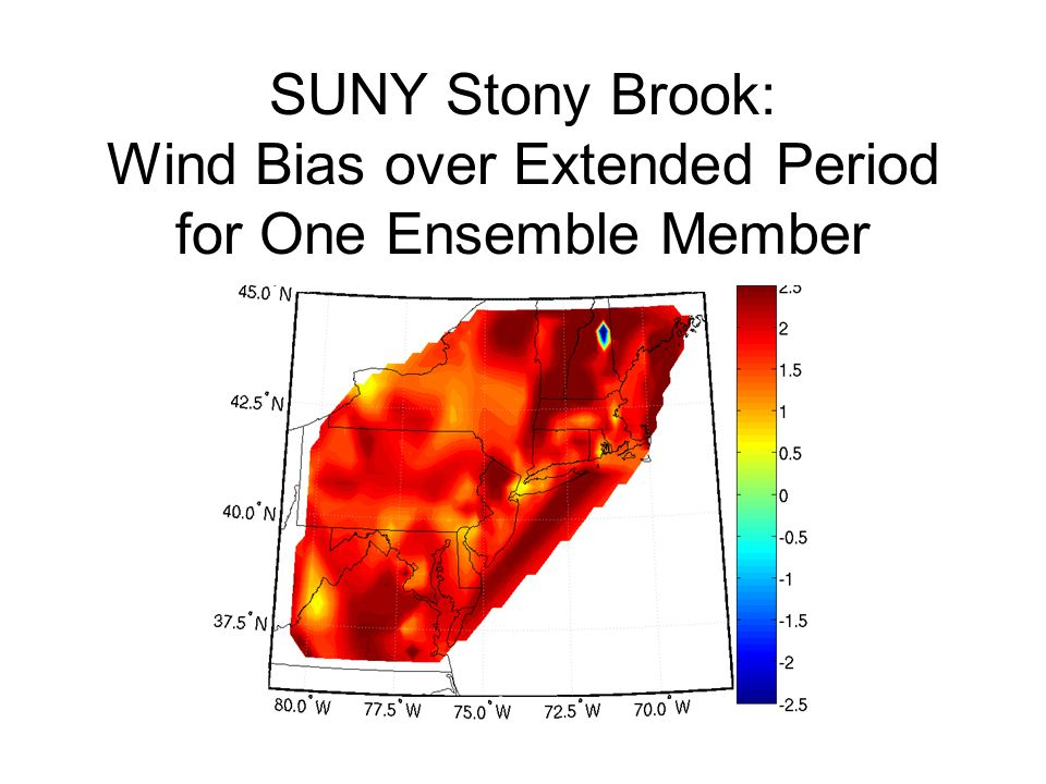 SUNY Stony Brook: Wind Bias over Extended Period for One Ensemble Member