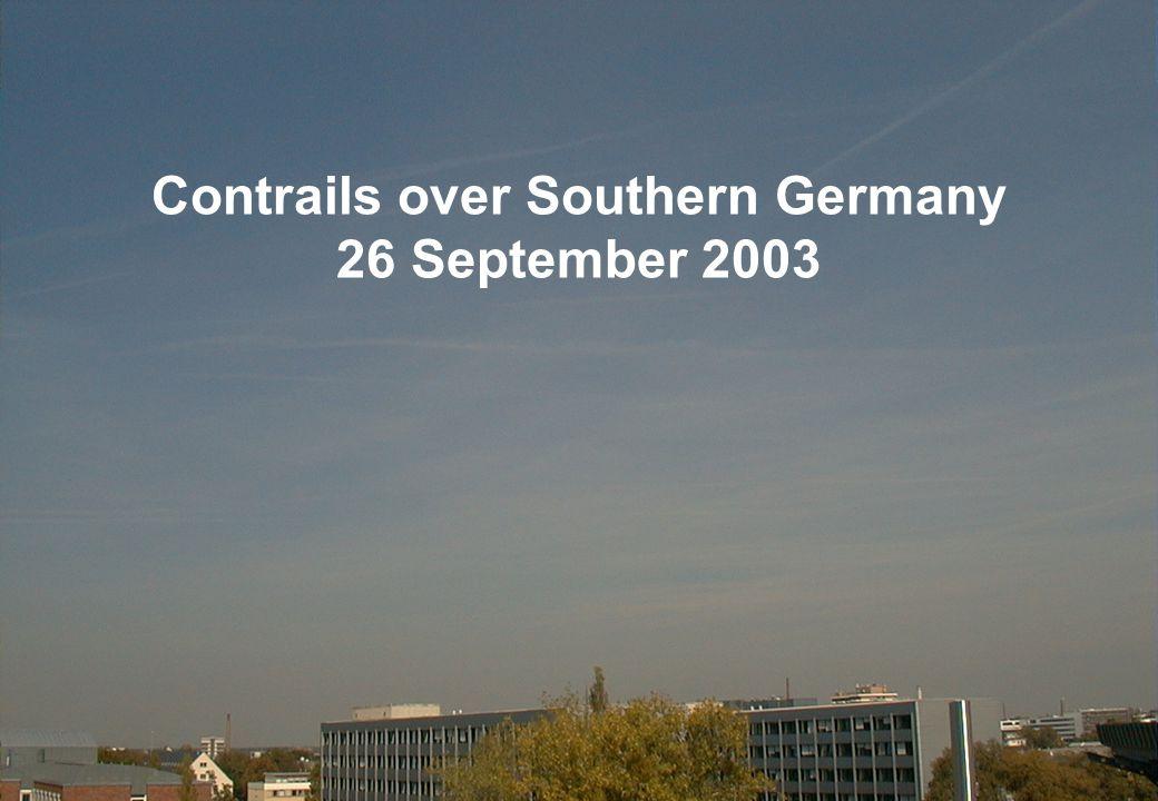 Version 0.3, 28 January 2004 Slide: 3 Contrails over Southern Germany MSG-1 26 September 2003 08:00 UTC RGB Image 03-02-01 NIR1.6 / VIS0.8 / VIS0.6 Contrails