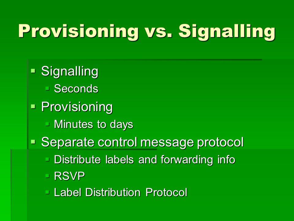 Provisioning vs.