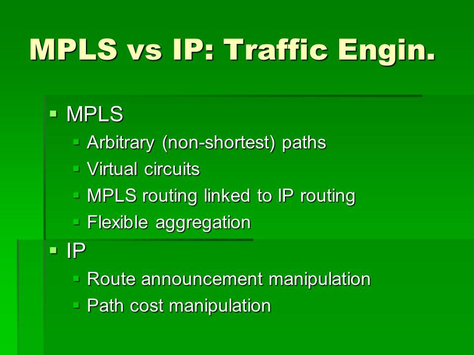 MPLS vs IP: Traffic Engin.