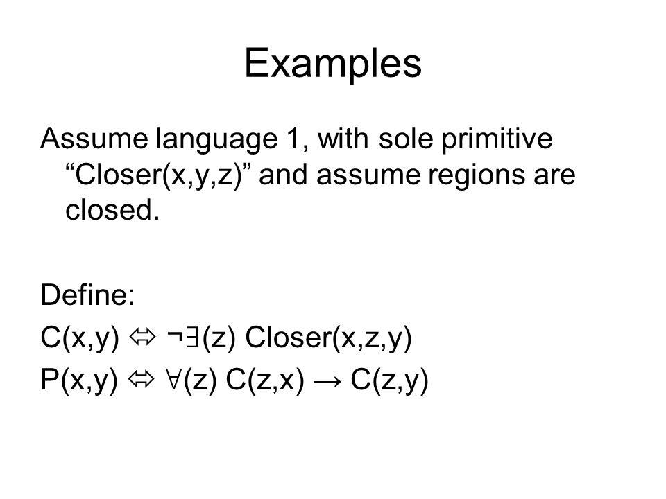 Properties of Points InPt(a,b;r) d,c SamePoint(d,c;a,b) C(d,r).