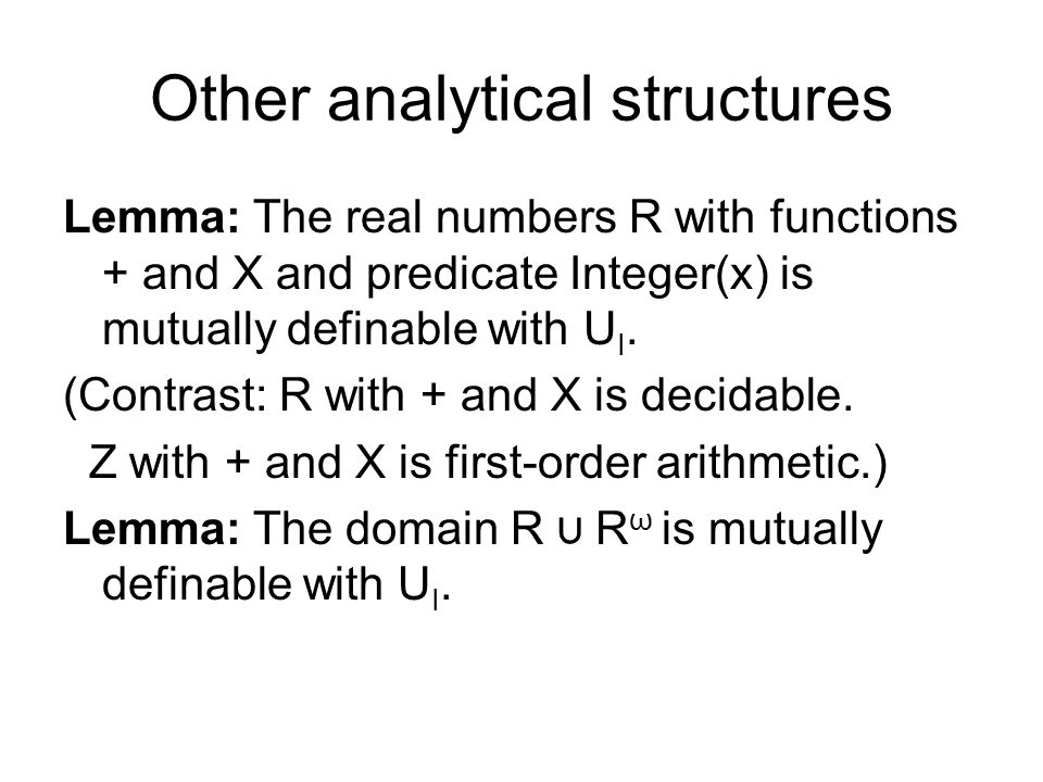 Analytical relations over regions Observation: A closed region is the closure of a countable collection of points.