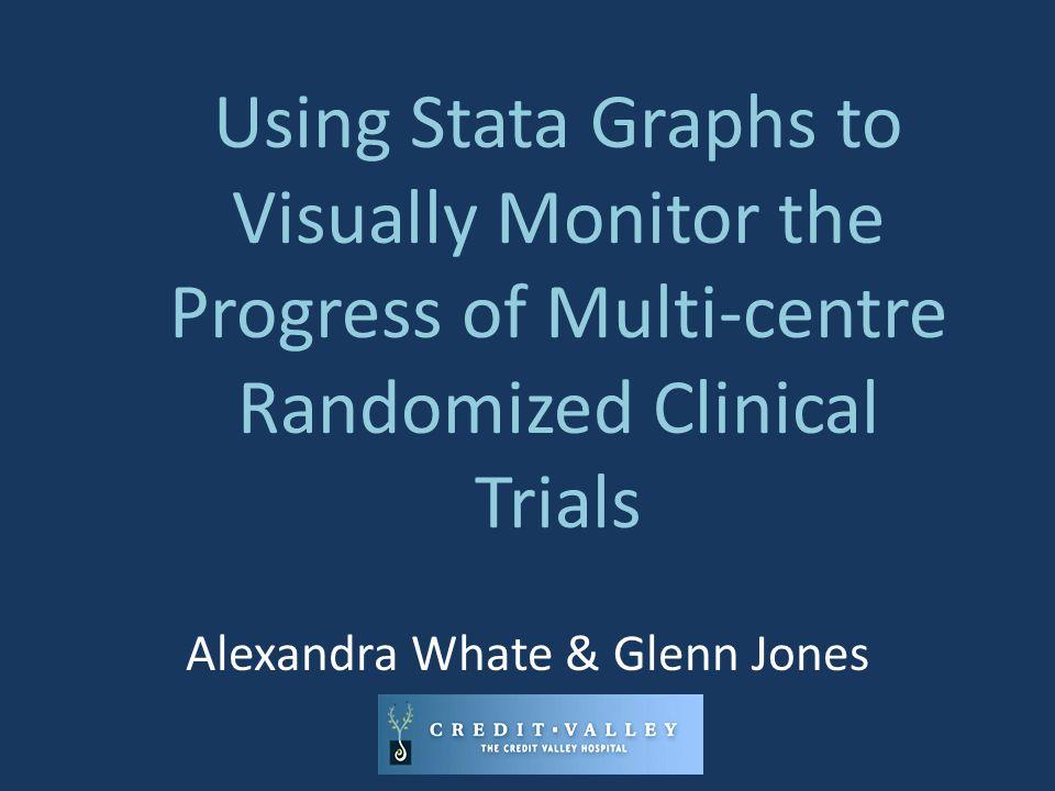 Using Stata Graphs to Visually Monitor the Progress of Multi-centre Randomized Clinical Trials Alexandra Whate & Glenn Jones