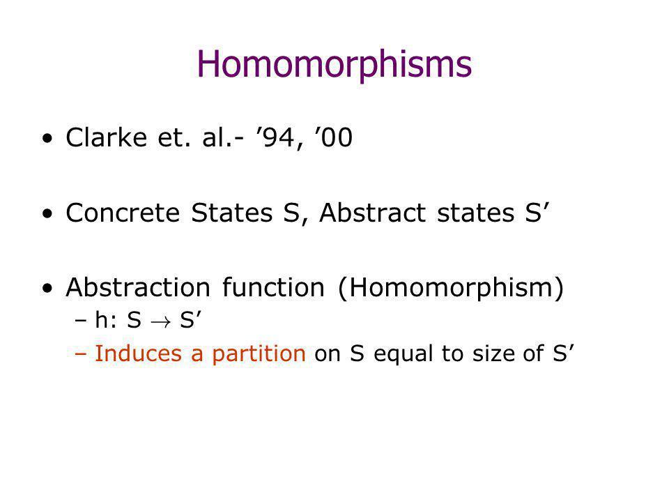 Homomorphisms Clarke et.