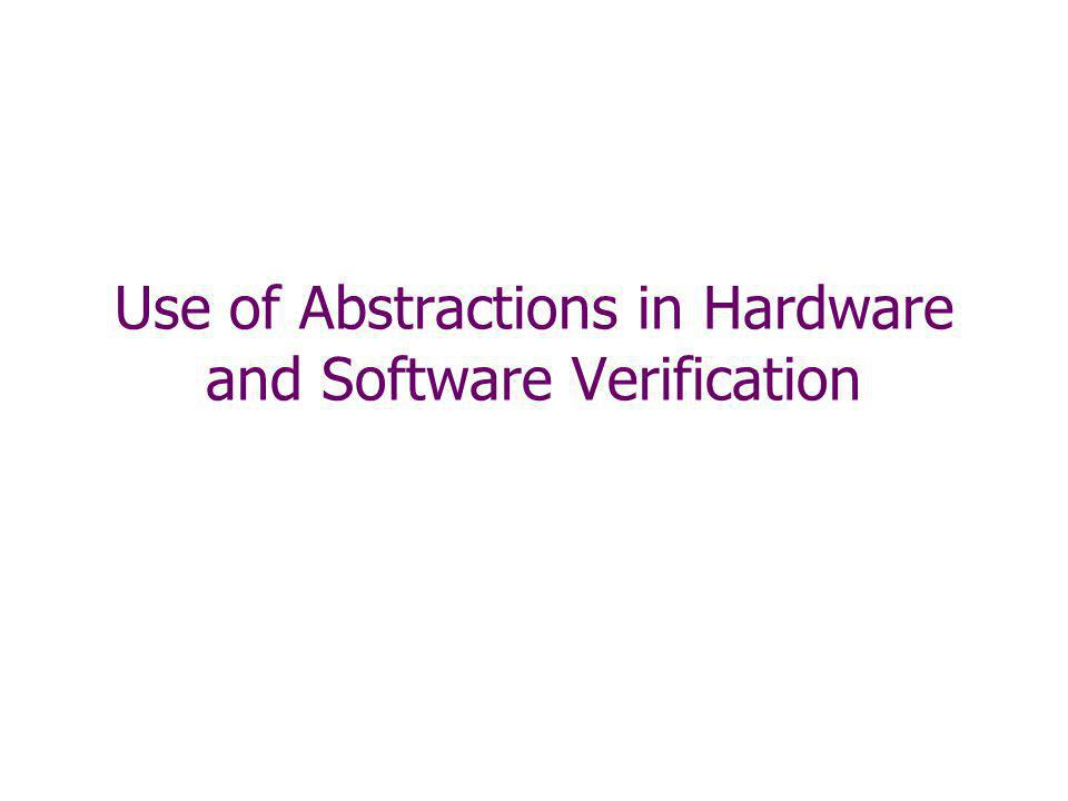 Use of Abstractions in Hardware and Software Verification