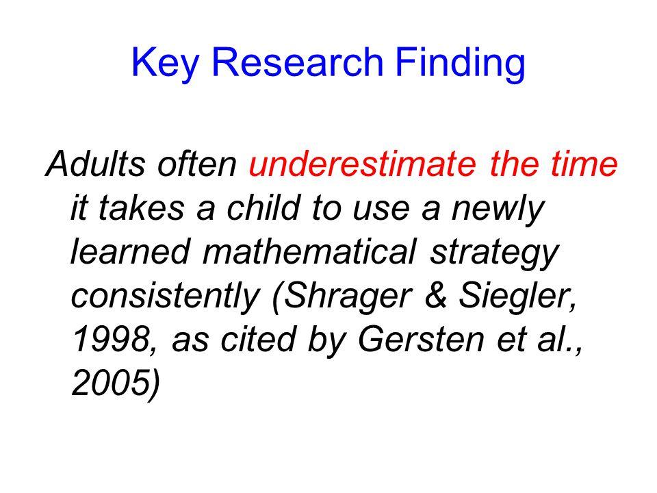 Conceptual and Procedural Knowledge Conceptual Knowledge Procedural Knowledge Strong Weak Conceptual knowledge has a greater influence on procedural k