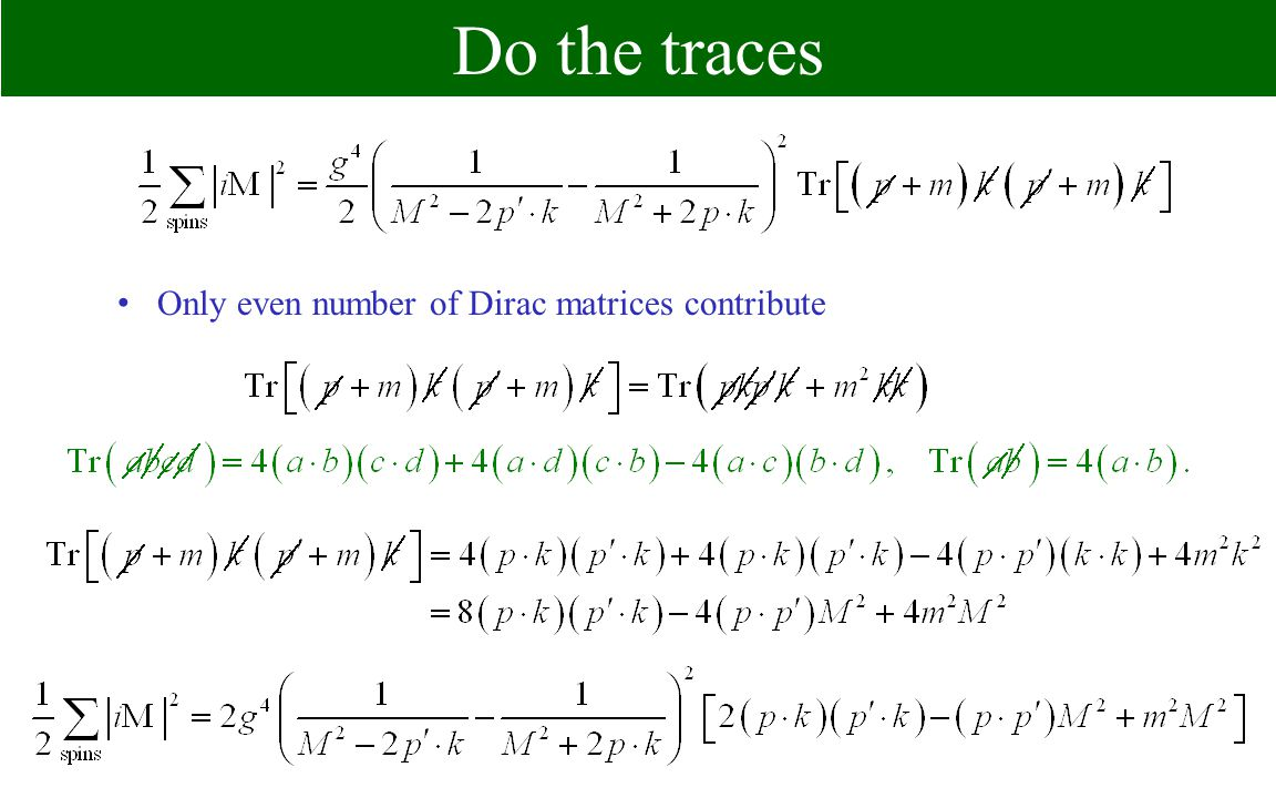 Do the traces Only even number of Dirac matrices contribute