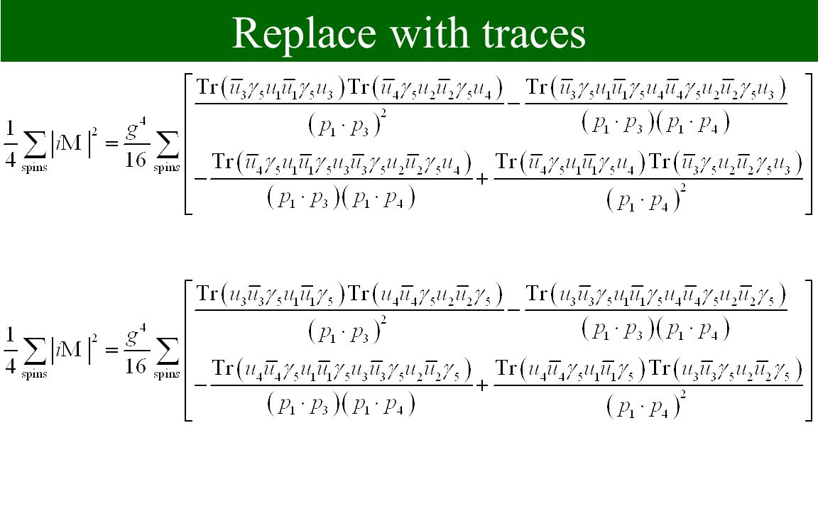 Replace with traces