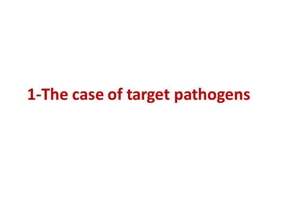 1-The case of target pathogens