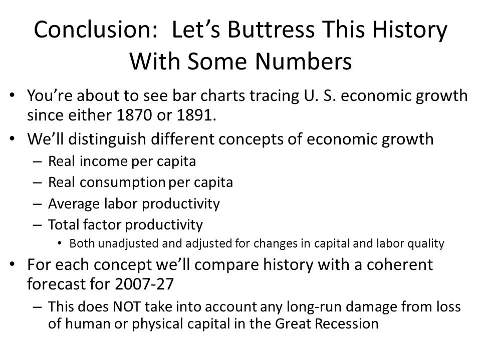 Conclusion: Lets Buttress This History With Some Numbers Youre about to see bar charts tracing U.