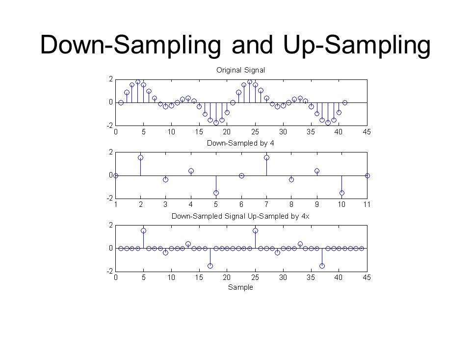 Down-Sampling and Up-Sampling