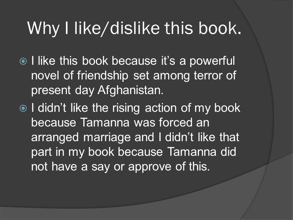 Why I like/dislike this book.