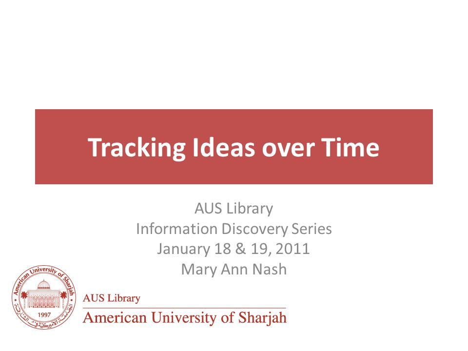 Tracking ideas over time Citation databases allow you to move both backward and forward in time to determine research influence Cited by tools enable you to follow a line of research from a known key piece of work to more recent research Cited references allow you to track previous research