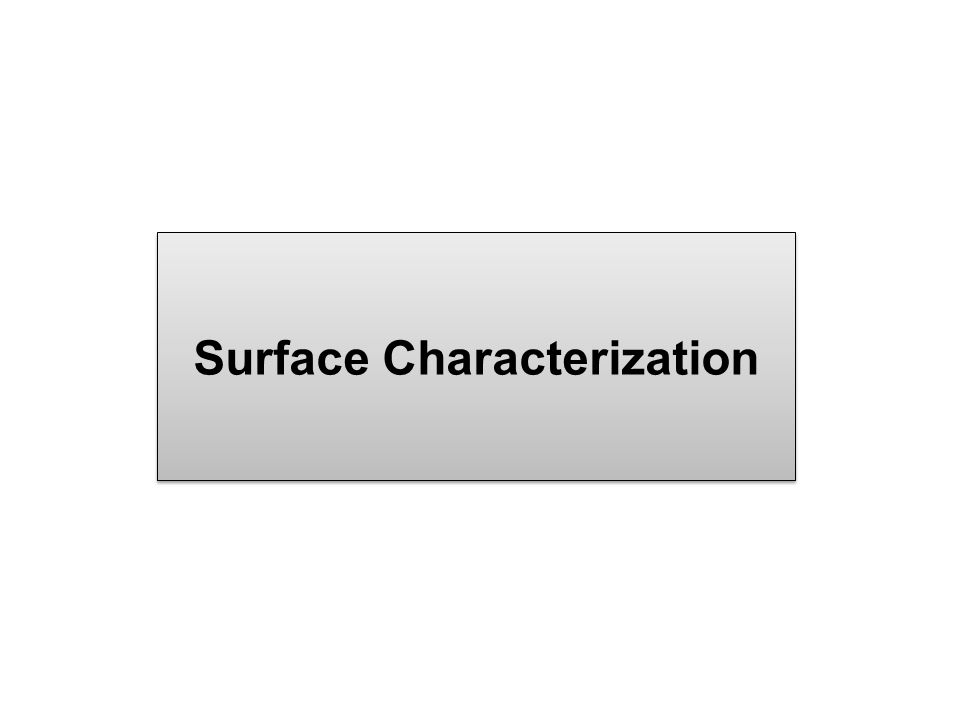 Surface Characterization
