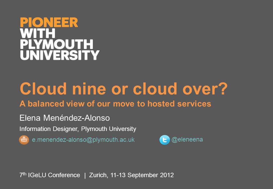 E. Menéndez-Alonso | 7th IGeLU Conference, Zurich, 11-13 September 2012 12 COMMUNICATION