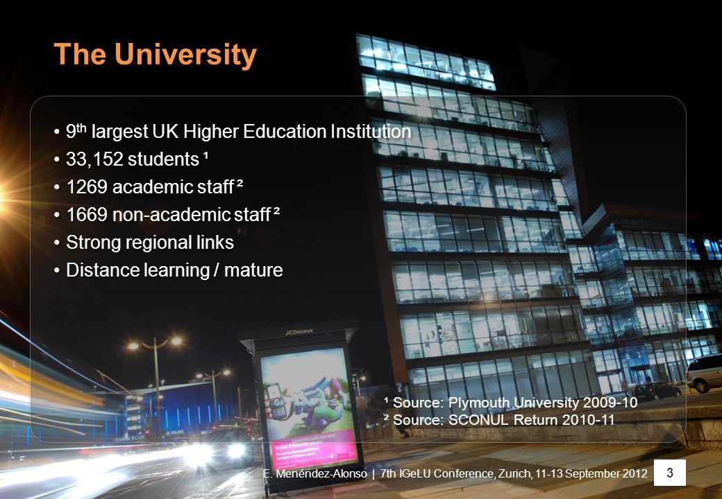 The University 3 E.