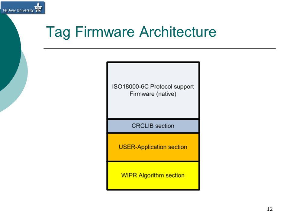 Tag Firmware Architecture 12