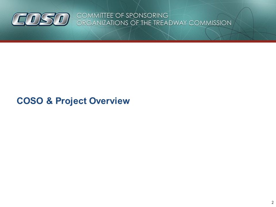 2 COSO & Project Overview
