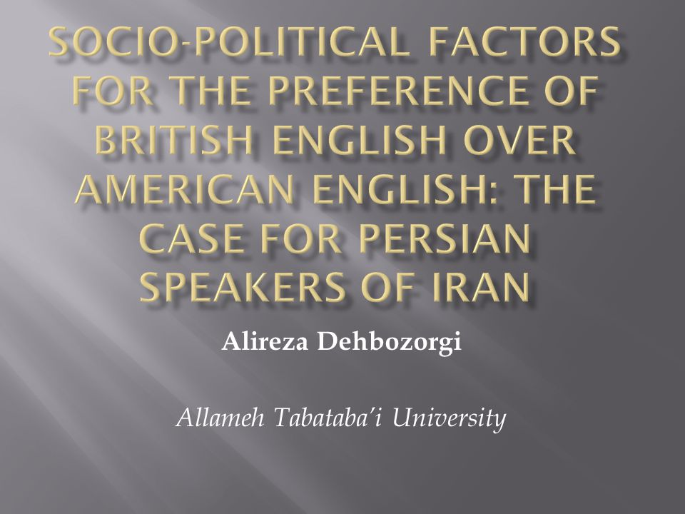 It is well known that individuals perceive the languages and/or varieties which exist in their environment differently.