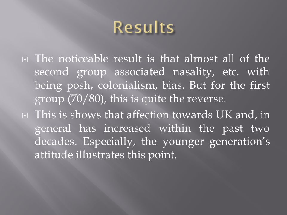 The noticeable result is that almost all of the second group associated nasality, etc.
