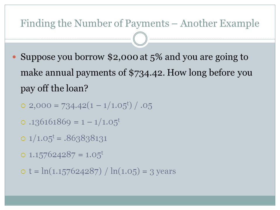 Finding the Rate An insurance company offers to pay you $1,000 per year for 10 years if you will pay $6,710 up front.