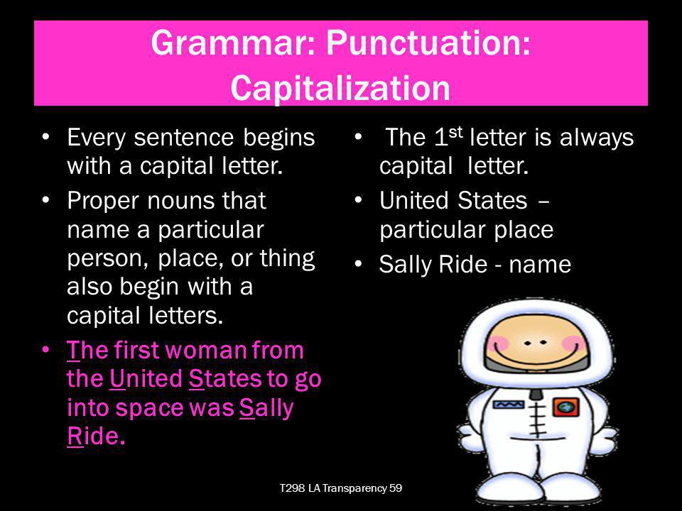 Each sentence has one or more errors in capitalization.