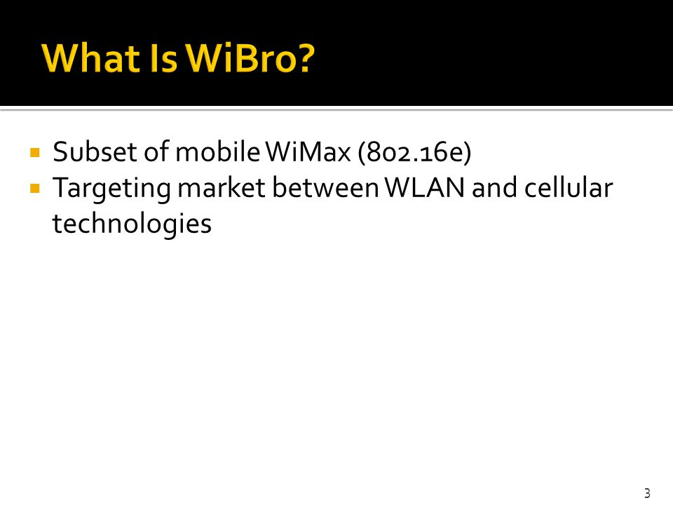 Is WiBro attractive enough to users.