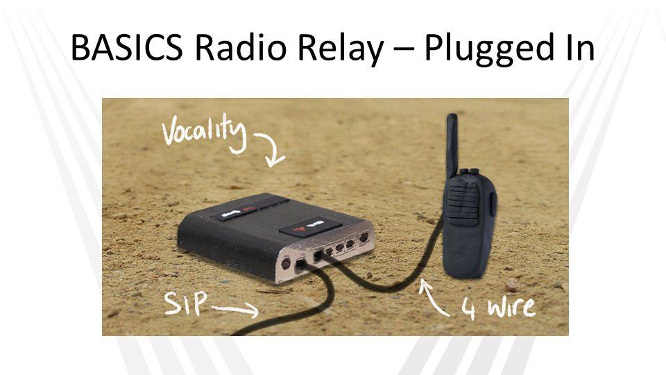 BASICS Radio Relay – Plugged In